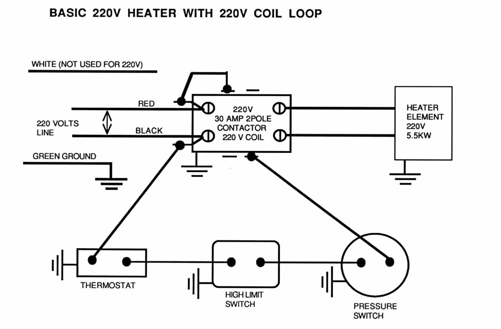 spa heater  spa heater wiring diagram